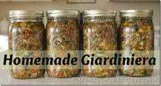 Homemade Giardiniera - for Italian beef