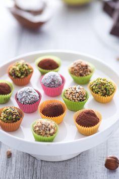 Praline al mascarpone Bakery Recipes, Tart Recipes, No Bake Cookies, Cake Cookies, Great Desserts, Delicious Desserts, Ricotta, Chocolates, Brigadeiro Recipe