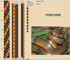 Inspirée par les motifs naturels de la peau de serpent j'ai créé quelques motifs pour mes prochains colliers au crochetavec le logiciel DB...