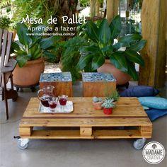 Como fazer mesa de pallet-  Passo a passo com fotos - How to built a pallet table - DIY tutorial  - Madame Criativa - www.madamecriativa.com.br