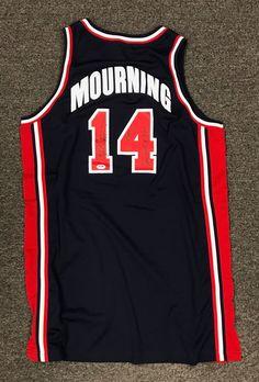 big sale f2228 3295b Alonzo Mourning Signed 1994 Game Used USA Olympic Champion Jersey Sz 50 PSA  DNA  Basketball