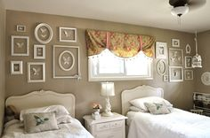 neutral wall in a little girls bedroom