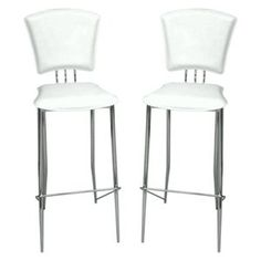 Superbe White Counter Height Chairs