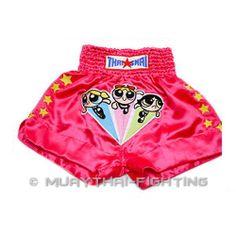 New Thaismai Muay Thai Boxing Shorts Pink Power Puff Girls BS-1029 S M L XL 3L