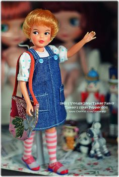 1960's Vintage Ideal Tammy's sister Pepper doll ~ I have Tammy & Pepper but she doesn't look this cute.