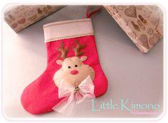 ❣ Little Kimono Handmade ❣ : Calcetín de Navidad · Reto Crochet y demos
