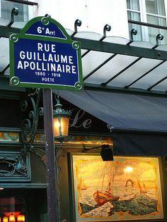 La rue Guillaume-Apollinaire  (Paris 6ème).