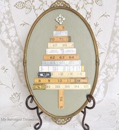 My Salvaged Treasures: Folding Ruler Trees