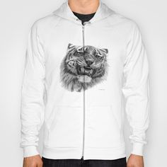 Tiger roar  G082 Hoody by S-Schukina - $38.00