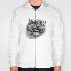Tiger roar  G082 Hoody by S-Schukina - $38.00