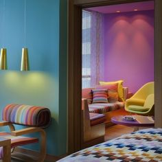 Understatement is not what one expects from the Italian fashion house Missoni, so the color and print extravaganza on display at Hotel Missioni Kuwait, the second in the brand's chain of international hotels, comes as no surprise