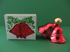 Vintage Avon bottle Christmas Bells with box 1974-75 by RampasFinds on Etsy