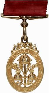 Great Britain Civil Order of Bath, early high relief type in Gold and well Hallmarked with original ribbon
