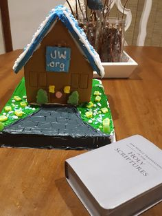 Family worship - watched the video 'Seeing Jehovah's Hand When Building Kingdom Halls' and then built our own using a gingerbread house kit from Walmart!