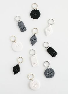 DIY Monogram Clay Keychains by MichaelsMakers Homey Oh My
