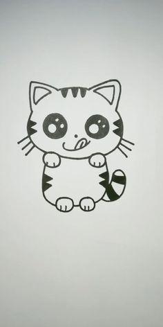 Easy Animal Drawings, Easy Cartoon Drawings, Cute Little Drawings, Cute Easy Drawings, Art Drawings For Kids, Art Drawings Sketches Simple, Easter Drawings, Cute Drawings Of Animals, Halloween Drawings