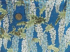 WtW Estate Fabric Kona Bay GEIS-18 Floral Metallic Garden 2012  BTY Quilt