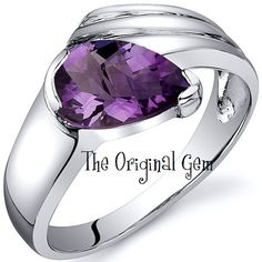 'Genuine Amethyst .925 Sterling Silver Ring Sz 5-9' is going up for auction at 11am Sat, Aug 11 with a starting bid of $45.