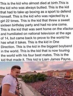 Liam James Payne you deserve to be in one direction if you weren't there one direction wouldn't be complete! I love you lili! I'm crying writing this and reading that picture! One Direction Humor, One Direction Pictures, I Love One Direction, Liam James, Liam Payne, 5sos, X Factor, Bae, Thing 1
