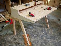 Дизайнер-ремесленник Ben Klebba из Портленда создал современный письменный стол…