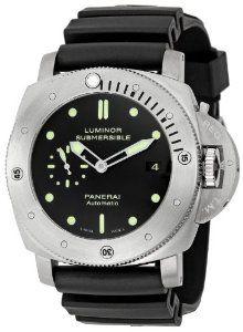 Panerai Men's M00305 Luminor Black Dial Watch