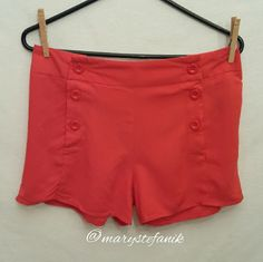 """*NEW NWT* Red Short Shorts by Twenty One size M *NEW NWT* Red Short Shorts by Twenty One xxi size M. 100% Rayon.  Waist: 15.5"""" Length: 12""""  Please let me know if you have questions. Happy Poshing! Forever 21 Shorts"""