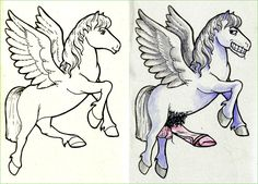 Guest Post: Pegasus.  The majestic Pegasus is um, uh, good lord! Reddit user BourbonFox created this sleazy character.