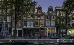 Amsterdam Street Photography by Maxim G Photography Amsterdam Jordaan, Street Photography, Multi Story Building, Mansions, House Styles, Manor Houses, Villas, Mansion, Palaces
