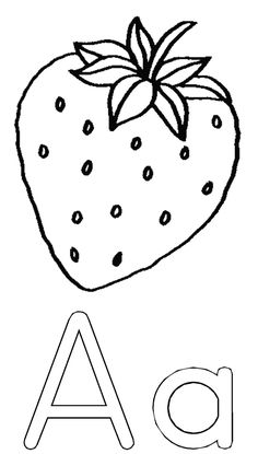 Printable Fruits Strawberry coloring pages – Printable Coloring Pages For Kids – Fruit Vegetable Coloring Pages, Fruit Coloring Pages, Colouring Pages, Printable Coloring Pages, Fruits For Kids, Kids Fruit, Strawberry Color, Fruit Picture, Christian Artwork