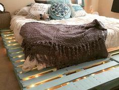 Best ideas about DIY Pallet Bed Frame . Save or Pin Top 62 Recycled Pallet Bed Frames DIY Pallet Collection Now. Pallet Bedframe, Wooden Pallet Beds, Diy Pallet Bed, Wooden Pallet Projects, Diy Projects, Wooden Bed Frame Diy, Project Ideas, Diy Frame, Pallet Wood Bed Frame
