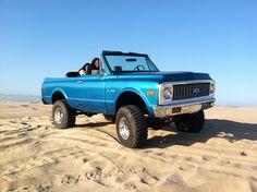 1972 Chevy Blazer...  My dad had one of these... it was like a convertible truck!!!