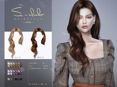 Sims 4 Curly Hair, Long Curly Hair, Curly Hair Styles, The Sims 4 Pc, Sims 4 Teen, Sims 4 Mac, Sims Cc, Sims 4 Mods Clothes, Sims 4 Clothing
