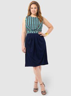 Chain Link Printed Dress