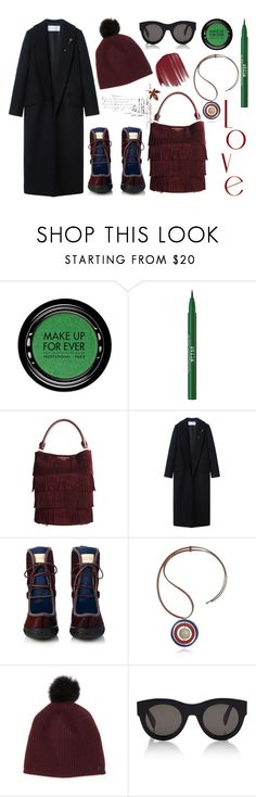 """""""My Personal Style/Happy weekend"""" by erindream ❤ liked on Polyvore featuring MAKE UP FOR EVER, Stila, Burberry, H:CE, Marni, rag & bone, CÉLINE and Vincent Longo"""
