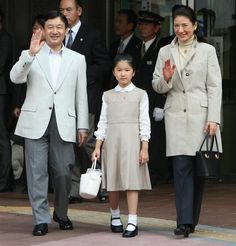Crown Prince Naruhito, Princess Masako and Princess Aiko, their daughter.