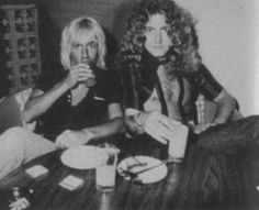 #RobertPlant and Iggy Pop, c. 1975.