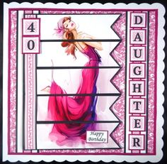 ELEGANT LADY PINK 7.5 Alphabet and Age Quick Card Kit Create Any Name by Linda Short