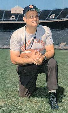 Ohio State Coach Woody Hayes, I grew up watching some great Buckeyes football under him