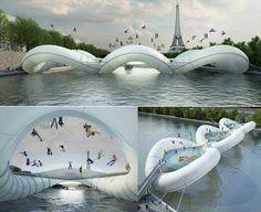 Amazing trampulin bridge. Crazy idea