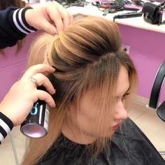 Hair transformation By: Hairdo For Long Hair, Bun Hairstyles For Long Hair, Bride Hairstyles, Hair Style Vedio, Hair Curling Tips, Hair Tutorials For Medium Hair, Bridal Hair Buns, Front Hair Styles, Hair Transformation
