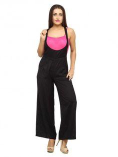 8acbb35b8857 Rayon Black Jumpsuits - Jumpsuits - By Cottinfab.com