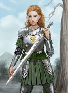 """char-portraits:  """"Emma in Armour by dashinvaine  """""""