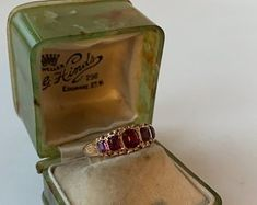 Fine Antique Victorian Gold Garnet Paste and Seed Pearl Seed Pearl Ring, Vintage Items, Vintage Jewelry, Victorian Ring, My Engagement Ring, Ring Crafts, Gold Flats, Three Stone Rings, Garnet Rings