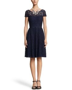 Lace Fit & Flare Dress from White House | Black Market on shop.CatalogSpree.com, your personal digital mall.
