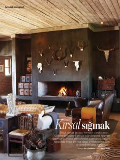 rustic stanford retreat - complete with nguni cattle, goats, sheep & chickens roaming the space, this contemporary country home in stanford in the western cape (south africa) is the perfect place for an artist and her family to relax! Contemporary Country Home, Living Area, Living Spaces, Built In Braai, Salons Cosy, Retreat House, Interior Decorating, Interior Design, Home Renovation