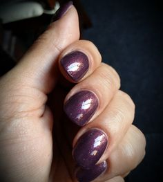 Plum In The Sun - a custom purple creme nail polish with tiny gold specs - Lacquester creation