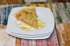 Apple pizza with almonds. Yummy quick dinner + breakfast next day