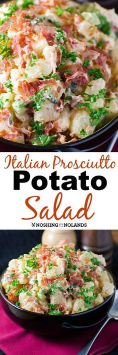 Italian Prosciutto Potato Salad by Noshing With The Nolands is one dish you'll want to serve all summer long! It will be a hit at any gathering!