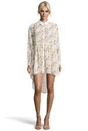 Boutique Vera Floral Georgette Shirt Dress