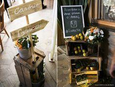 decoração com caixotes de feira casamento - Pesquisa Google